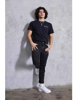David Dobrik Embroidered Script Clickbait Shirt by Fanjoy