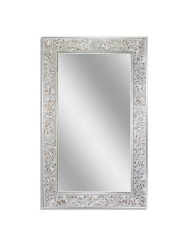 20 In. W X 32 In. H Etched Olive Branch Wall Mirror by Deco Mirror