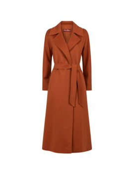 Long Cashmere Belted Coat by Max Mara