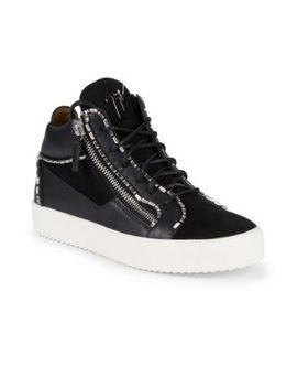 Jewel Trim High Top Sneakers by Giuseppe Zanotti