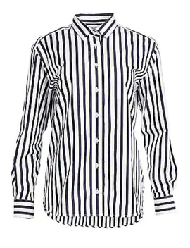 Capri Stripe Cotton Shirt by Toteme