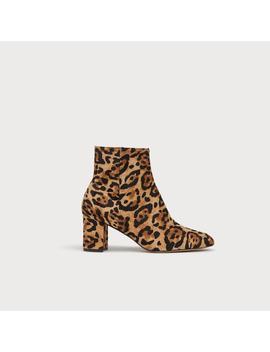 Jette Leopard Print Calf Hair Ankle Boots by L.K.Bennett