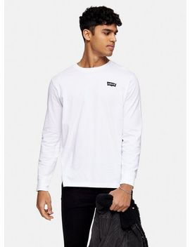 Levi's White Long Sleeve Small Chest Logo T Shirt by Topman