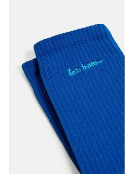 Iets Frans... Bright Blue Crew Socks by Iets Frans...