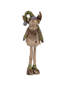 Standing Reindeer With Green Hat And Scarf by The Range