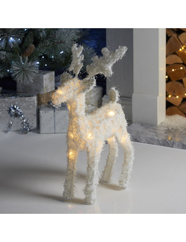 Led White Feather Effect Reindeer by The Range