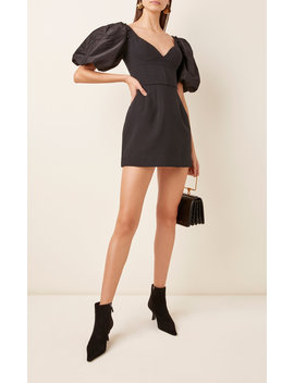 Satin Paneled Crepe Mini Dress by Prabal Gurung