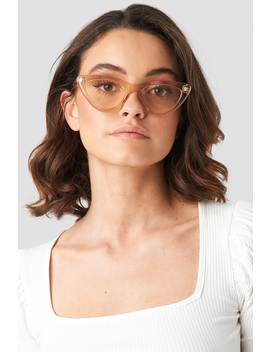 Rounded Cat Eye Sunglasses Brown by Na Kd Accessories