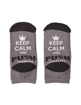 Motherhood® Maternity Keep Calm Hospital Socks In Grey/Black by Motherhood Maternity