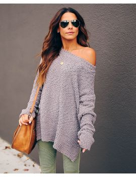 Under The Weather Knit Sweater   Charcoal by Vici