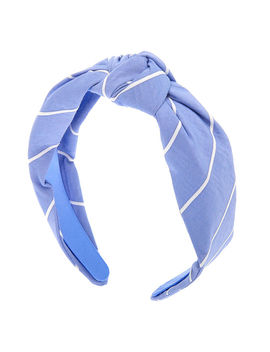 Striped Knotted Headband   Blue by Claire's