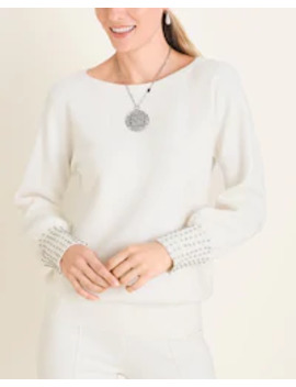 Embellished Cuff Pullover Sweater by Chico's