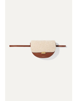 Anna Leather And Shearling Belt Bag by Wandler