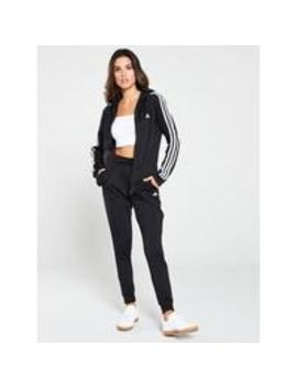 3 Stripe Tracksuit   Black by Adidas
