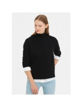 Warm Turtleneck Knit Wool Sweater by Lily Silk