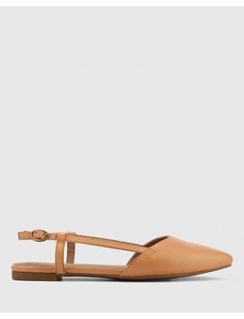 Edelpha Tan Leather Flat Slingback Sandal by Wittner