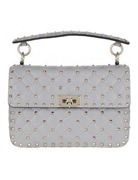 Rockstud Spike Crossbody Bag Medium Pastel Grey by Valentino
