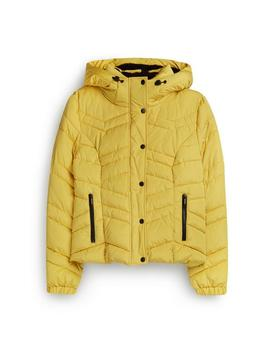 Yellow Short Hooded Padded Jacket by Primark