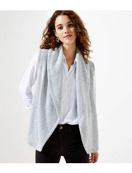 Shawl Pocket Sweater Vest by Loft