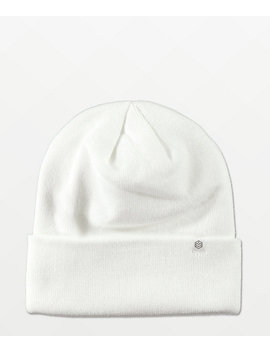 Zine Essential White Beanie by Zumiez