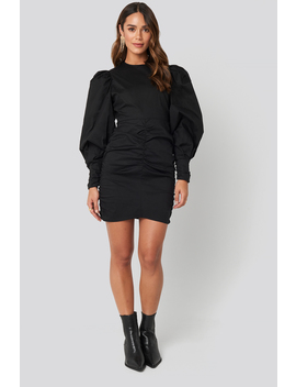 Puff Sleeve Mini Dress Black by Na Kd Boho