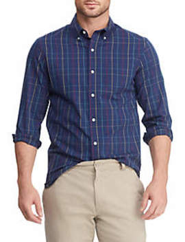 Big & Tall Easy Care Multi Plaid Button Down Shirt by Chaps