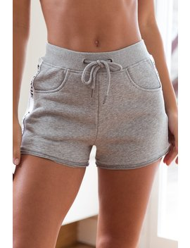 Grey High Waisted Shorts by Lounge