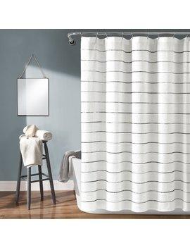 Gutman Stripe Yarn Dyed Shower Curtain Single by Allmodern