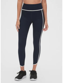 Gap Fit High Rise Blackout Ribbed Tulip Hem 7/8 Leggings by Gap