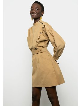 Camel Mini Belted Dress by The Frankie Shop