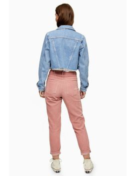 Mom Jeans Aus Cord In Blassrosa by Topshop