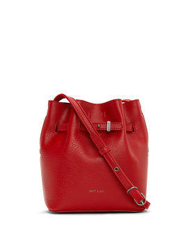 Leximini Mini Bucket Bag   Red Black by Matt & Nat