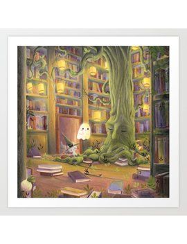 The  Library Art Print by Society6