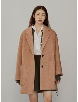 Exclusive Alpaca Belt Coat Camel by En Or