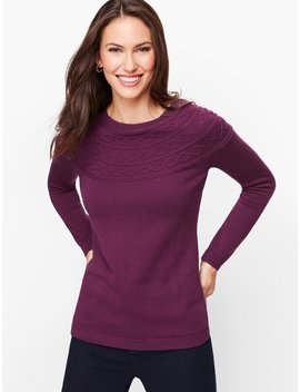 Diamond Cable Sweater by Talbots