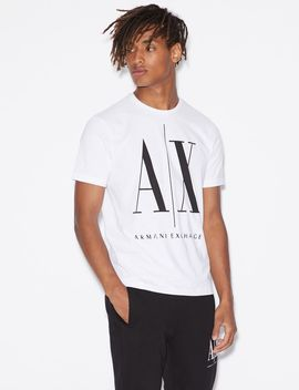 Regular Fit Crew Neck T Shirt by Armani Exchange