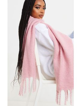Pink Chunky Scarf  by Prettylittlething