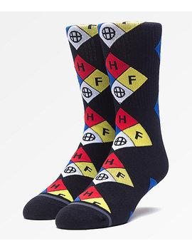 Huf Hazard Black Crew Socks by Zumiez