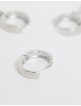 Asos Design – Kreolen Set Mit Anhängern Und Kettendesign In Silber by Asos