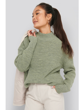 Stitch Detail Sweater Green by Na Kd