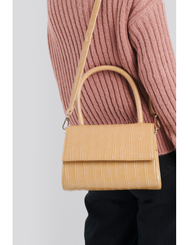 Mini Top Handle Flap Bag Beige by Na Kd Accessories