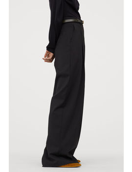 Wide Leg Wool Pants by H&M