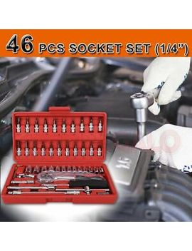 "46 Pcs Smart Socket Wrench Set Crv 1/4"" Drive Metric Flexiable Extension Bar 0606 by Unbranded"