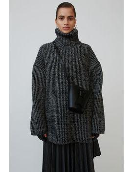 Gerippter Pullover Mit Polokragen Grau/Dunkelgrau by Acne Studios