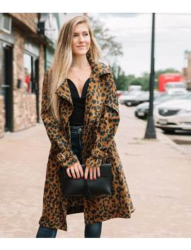 Cheetah Trench Jacket by Willow & Root