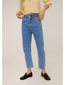 Waist Straight Slouchy Jeans by Mango