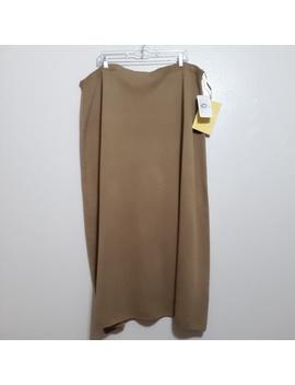 Nwt Dialogue Ultra Merino Long Camel Skirt Sz 3 XNwt by Dialogue