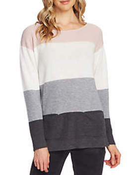 Color Block Waffle Knit Sweater by Vince Camuto