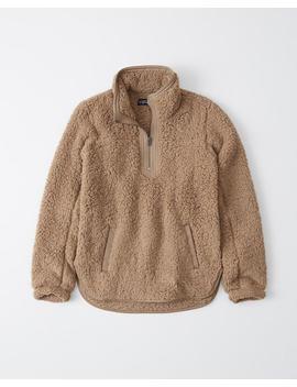 Le Sweatshirt En Polaire Et Sherpa Essentiel A&F by Abercrombie & Fitch