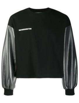 Sheen Sleeve Sweatshirt by Wwwm